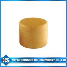 Tarro plástico 150ml para crema en color madera