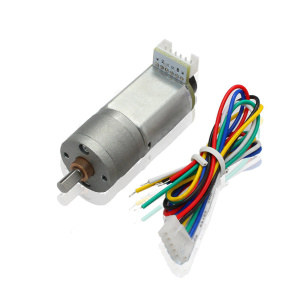 Small Geared DC Motor With Encoder