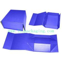 Boîte cadeau rabattable de haute qualité avec fermeture Magnet