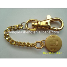 Wholesale gold/silver/black cheap price round shaped custom made logo metal keychains