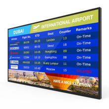 Large 55 inch 1080p full HD indoor wall mounted advertising digital display for restaurant