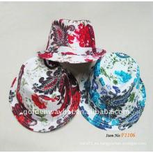 Forme a sombrero barato del fedora la mezcla caprichosa del color de la mezcla nueva manera del diseño para el partido