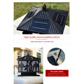outdoor Monocrystalline silicon solar powered led lamp
