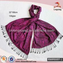 Rose Red Jacquard Pashmina shawl