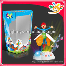Funny Clown Dolls Flying Clown Toys With Light And Music For Sale