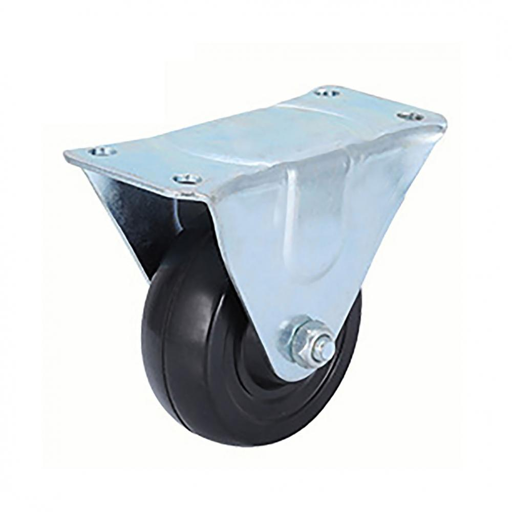 Lightweight Fixed Casters with Rubber Wheels