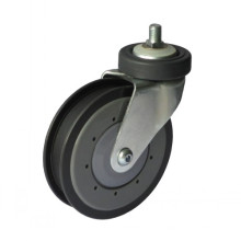 Type de trou de verrouillage de 5 po Rigid Shopping Caster (une rainure)