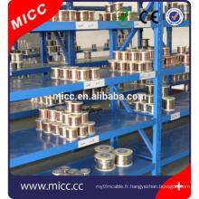 Fil de chauffage de résistance électrique de nickel 8020