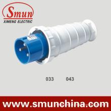 Tomada industrial de 63A 220V, tomada elétrica masculina de 125A 3pin, tomada IP67 e soquete industriais