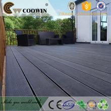 Black grooved composite decking board tamanhos