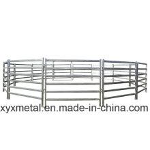 Planos de vedação de trilhos galvanizados portáteis para cavalos
