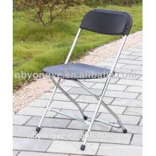 Chaise chromée en plein air Chaise pliante en plastique