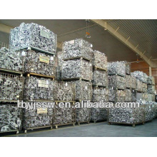 Contentores de malha de arame de armazenamento empilhável