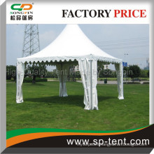 square pagoda tents 5x5m made of aluminum for garden usage