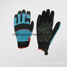 Luvas de mecânico de couro sintético (7221)