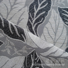 Leaf Pattern 100% Polyester Yarn Dyed Chenille Fabric for Sofa