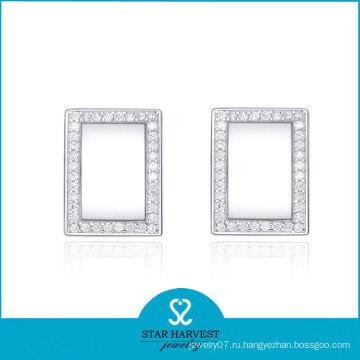 Квадратные серьги для девочек (SH-E0046)