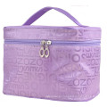 Saco cosmético dobrável dos sacos de nylon do presente do saco da composição do armazenamento para mulheres
