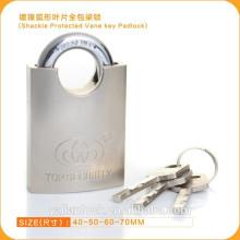 Essential Segurança Nickle Plated Shackle Protected Vane Cadeado Chave