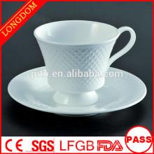 2015 hot sale porcelain coffee cup with diamond shape