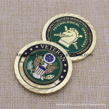 Soft Esmalte Metal Us Exército Challenge Coin para Coleção