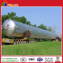 Remorque Lowbed de tuyau d'acier de transport d'axes rotatoires