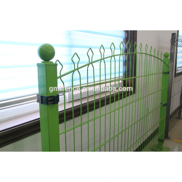 ISO9001 Factory Cheap Residential Ornamental Wrought Iron Fence modelas/solid metal fence panel