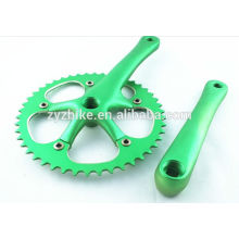 Advanced single speed fixed gear bicycle crank 46T crankset cycle multicolor