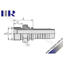 Encaixe de mangueira hidráulico métrico 24 do Cone Seat da linha masculina (10411)