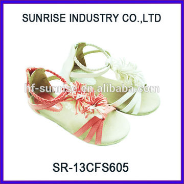SR-13CFS605 2014 fashionable sandals for teens girls flat sandals latest fashion girls sandals