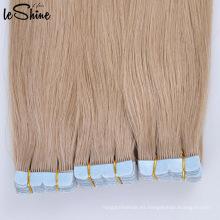 Extensiones dibujadas doble humana del pelo de la cinta del doble del Remy del pelo brasileño de la calidad superior 100% superior