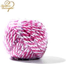 Cordón torcido al por mayor decorativo del algodón de 2 filamentos