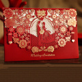 Fancy Handmade Greeting Cards Laser Wedding Invitations