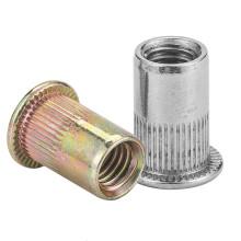 Stainless Steel M3 M4 M5 M6 M8 M10 M12 Flat Head Rivnut Zinc Plated Cap Rivet Threaded Nut