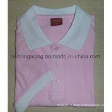 Senhora barata do algodão imprimiu o t-shirt, camisa polo