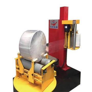 Pra-stretch Mini Paper Roll Peregangan Wrapping Machine pabrik