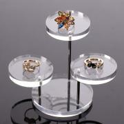 3 Tray Acrylic Earring Necklace Display Shelf