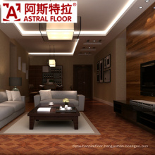 Beautiful Luxurious Style Red Color Parquet Laminated Flooring