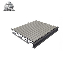 Chestnut covers aluminum framing system for deck