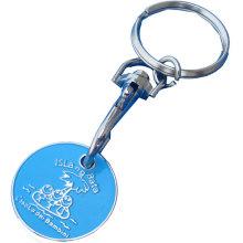 Metall Trolley Münze Schlüsselbund für Geschenk