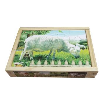 Обучающая деревянная головоломка Box 4 in 1 Деревянные игрушки