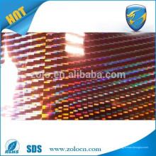 Película de holograma autoadhesiva personalizada / Película de PET / Película de vinilo holográfica