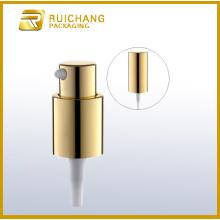 Pompe lotion cosmétique en aluminium avec coiffe en aluminium