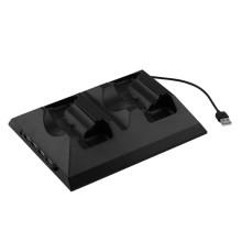 4 en 1 station de chargeur de dock de chargement multifonctionnel avec le ventilateur de refroidissement de refroidissement de HUB pour le contrôleur de Xbox One