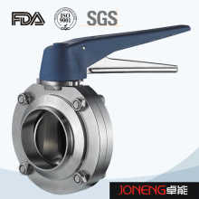 Stainless Steel Plastic Handle Food Processing Welded Butterfly Valve (JN-BV1012)