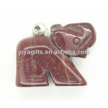 Natural Elephant Shape Semi Precious Stone Pendant