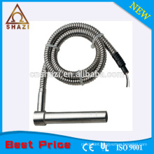 cartridge heater with stainless steel armoured cable