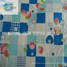Reine 100 % Baumwolle Seersucker Stoff für Kleidung gedruckt