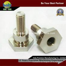 Benutzerdefinierte CNC Messing Bolzenmutter mit Nickel überzog CNC-Bearbeitung