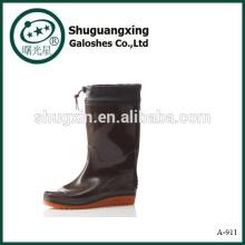 Haltbare PVC Sicherheit Schuh Männer Herrenmode Stiefel PVC Regen Stiefel Man Regen Stiefel A-911